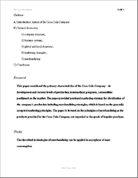 i research paper outline report outline template    free sample example format download