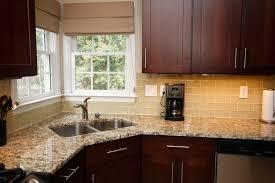 White Tile Kitchen Backsplash Home Design Ideas Flamed Black Countertop White Backsplash River