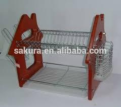 Tier Wooden Panel Metal Dish RackDish DrainerDish Holder - Kitchen sink dish rack