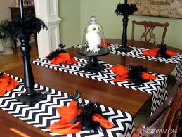 halloween table cloth it u0027s written on the wall halloween tablescape now some decor