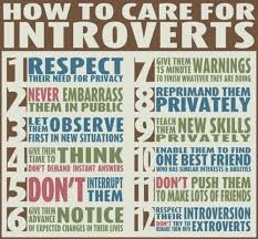 How to Care for Introverts  in    easy steps     elephant journal    In an extroverted society  the difference between an introvert and an extrovert is that an introvert is often unconsciously deemed guilty until proven