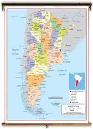 Political Map Of South America Argentina Political Educational Wall Map From Academia Maps