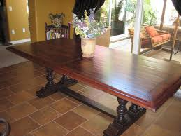 European Dining Room Furniture European Paint Finishes Spanish Colonial Trestle Table