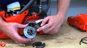 how to replace the clutch on a chainsaw youtube