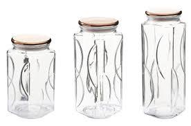 kinetic gogreen glassworks 3 piece kitchen canister set u0026 reviews