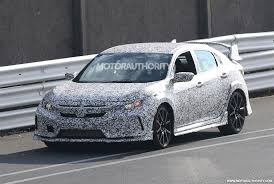 2018 honda civic type r spy shots and video