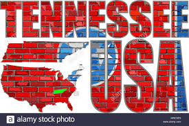 State Of Tennessee Map by Tennessee Map On A Brick Wall Illustration The State Of Stock