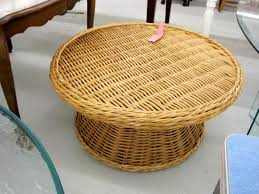 Footstools Ottomans by Small White Round Wicker Table Starrkingschool