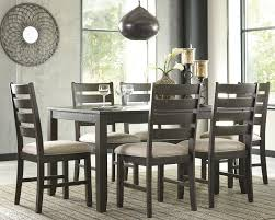 Brown Dining Room Table Signature Design By Ashley Rokane 7 Piece Dining Set U0026 Reviews