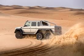 the heart pounding mercedes benz g 63 amg 6x6 taking the desert