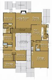 courtyard house plans 61custom contemporary modern center atrium