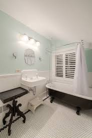 bathrooms traditional bathroom with clawfoot black bathtub and