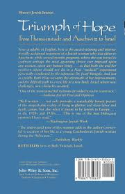 amazon com triumph of hope from theresienstadt and auschwitz to