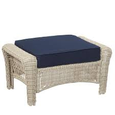 White Wicker Outdoor Patio Furniture by Martha Stewart Living Outdoor Ottomans Outdoor Lounge