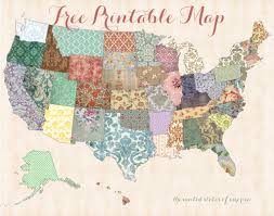 Blank State Map Of Usa by 40 Free Art Printables For Gallery Walls Printable Maps United