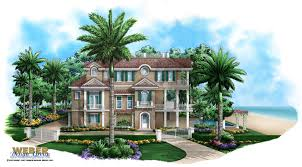 seaside place home plan caribbean coastal design 3 story