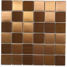 splashback tile metal copper 2 in squares 12 in x 12 in x 8 mm