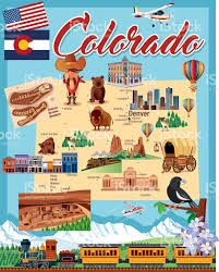County Map Of Colorado Cartoon Map Of Colorado Stock Vector Art 622219436 Istock