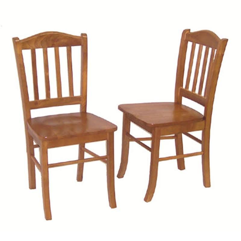 Boraam Shaker Dining Chair In Oak (set Of 2)