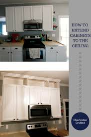 how to extend kitchen cabinets to the ceiling u2022 charleston crafted