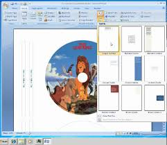 Microsoft Word 2007 Cover Page Templates by How To Make Labels For Cd Dvd Disc Youtube