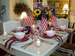 Ideas For Dining Room Table Decor by Easy Table Decorations For 4th Of July Independence Day Family