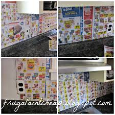Cheap Backsplashes For Kitchens Frugal Ain U0027t Cheap Kitchen Backsplash Great For Renters Too