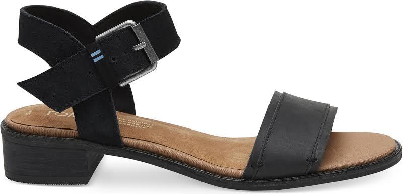 TOMS Camilia Heels Black- Womens