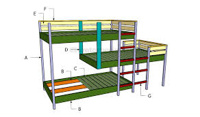 Plans For Building Bunk Beds by Triple Bunk Bed Plans Howtospecialist How To Build Step By