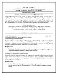 Writing A Summary For Resume Resources Specialist Resume