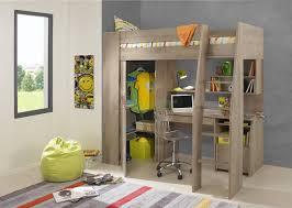 Timber Kids Loft Bunk Beds With Desk Closet Gautier Gami Furniture - Kids bunk bed with desk