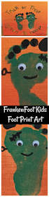 halloween arts and crafts ideas frankenfoot kids foot print art halloween craft halloween kids