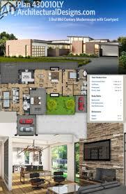 Mid Century Modern House Plan 597 Best Home Floor Plans Images On Pinterest Architecture