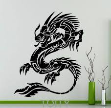 online buy wholesale chinese wall design from china chinese wall orient dragon wall sticker mythology vinyl decal chinese style long home interior design art murals living