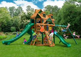 Cedar Playsets Wooden Swing Sets Or Playsets On Sale Swingset Paradise Swing