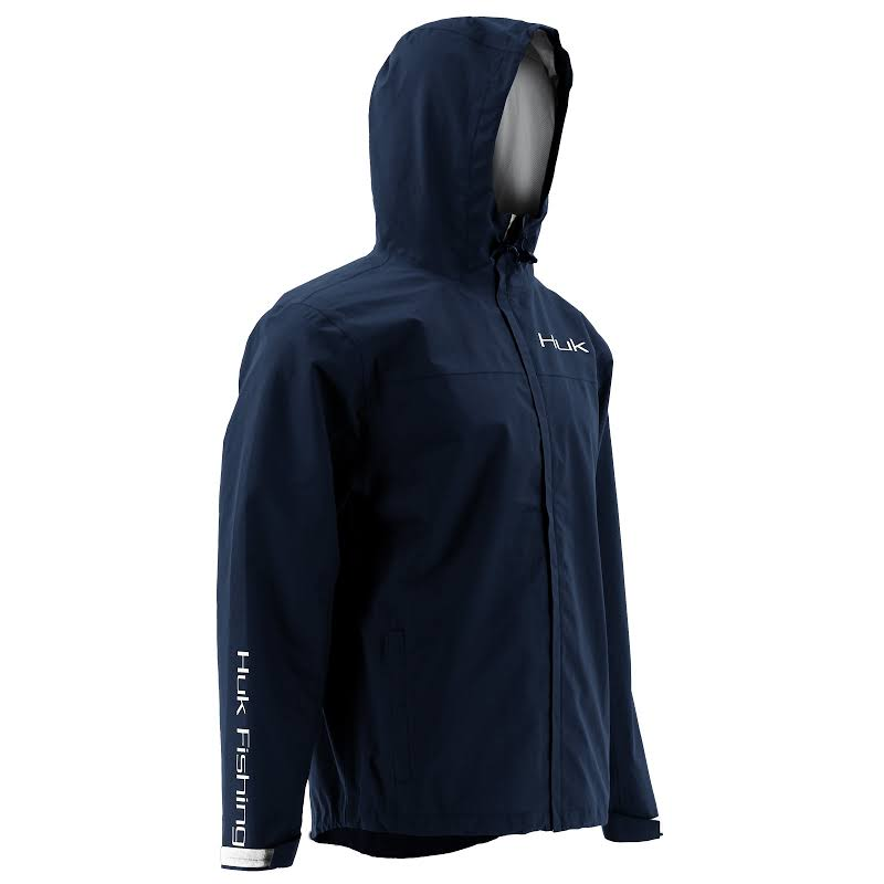HUK Performance Fishing Packable Rain Jacket Navy Extra Large H4000015-410-XL