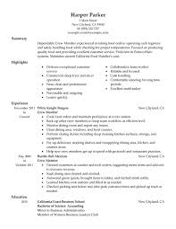 Samples Of Resumes For Highschool Students by Unforgettable Crew Member Resume Examples To Stand Out
