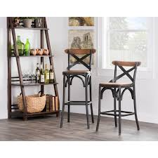 kosas home dixon rustic brown and black reclaimed pine and iron