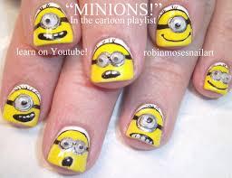 minion nail art tutorial for short nails diy nail art for