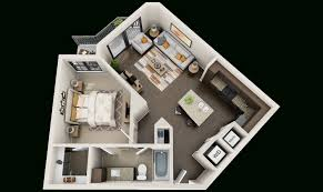 3d Floor Plans by 3d Plan Of Flats For Building 3d Floor Plans For Apartments Get