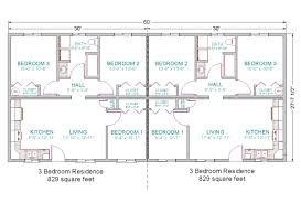 Plans Design by Basic For Duplex Guest House 6 Bedrooms Total Duplex 28x60 3