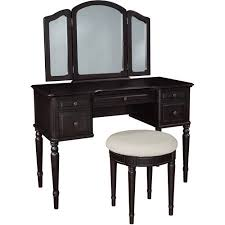 Linon Home Decor Vanity Set With Butterfly Bench Black Vanity Benches Walmart Com