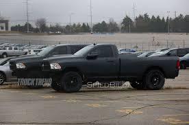 Dodge Ram Cummins Mega Cab - ram heavy duty spied with massive hood scoop hellcat power wagon