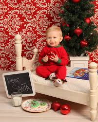 christmas portraits waiting for santa toddler portraits one