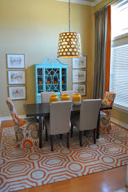 Dining Room Makeovers by The Francis Family Orange Blue And Grey Dining Room Makeover