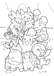 pokemon printable coloring pages pokemon pikachu and friends