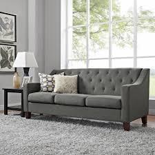 tufted sofa dorel living threshold tufted sofa dunes gray