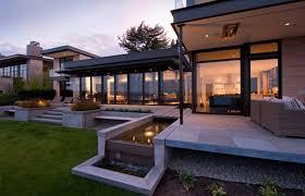 Modern Concrete Home Plans And Designs Pretty Modern Terrace Garden Design Features Concrete Floor And