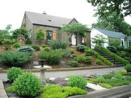 Landscaping Ideas For Backyards by Landscape Sloped Back Yard Landscaping Ideas Backyard Slope