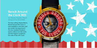 limited edition barack around the clock red obama watches